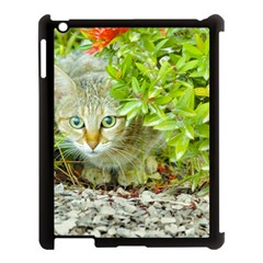 Hidden Domestic Cat With Alert Expression Apple Ipad 3/4 Case (black) by dflcprints