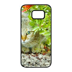 Hidden Domestic Cat With Alert Expression Samsung Galaxy S7 Edge Black Seamless Case by dflcprints
