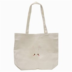 Rabbit Cute Animal White Tote Bag (cream) by Nexatart