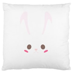 Rabbit Cute Animal White Large Cushion Case (two Sides) by Nexatart