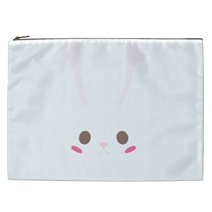 Rabbit Cute Animal White Cosmetic Bag (xxl)  by Nexatart