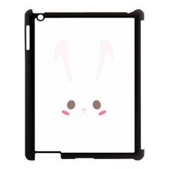 Rabbit Cute Animal White Apple Ipad 3/4 Case (black) by Nexatart