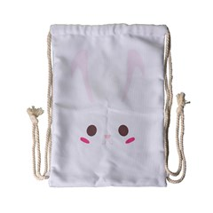 Rabbit Cute Animal White Drawstring Bag (small) by Nexatart