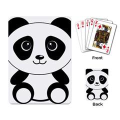 Bear Panda Bear Panda Animals Playing Card by Nexatart