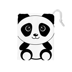 Bear Panda Bear Panda Animals Drawstring Pouches (medium)
