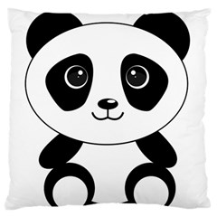 Bear Panda Bear Panda Animals Large Flano Cushion Case (two Sides)