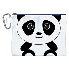 Bear Panda Bear Panda Animals Canvas Cosmetic Bag (xxl) by Nexatart
