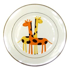 Giraffe Africa Safari Wildlife Porcelain Plates by Nexatart