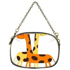 Giraffe Africa Safari Wildlife Chain Purses (one Side)  by Nexatart