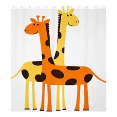 Giraffe Africa Safari Wildlife Shower Curtain 66  X 72  (large)  by Nexatart