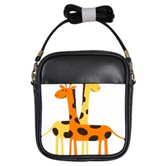 Giraffe Africa Safari Wildlife Girls Sling Bags by Nexatart