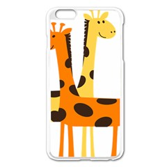 Giraffe Africa Safari Wildlife Apple Iphone 6 Plus/6s Plus Enamel White Case by Nexatart