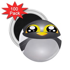 Cute Penguin Animal 2 25  Magnets (100 Pack)  by Nexatart