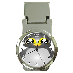Cute Penguin Animal Money Clip Watches by Nexatart