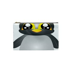 Cute Penguin Animal Cosmetic Bag (small)  by Nexatart