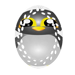 Cute Penguin Animal Oval Filigree Ornament (two Sides) by Nexatart