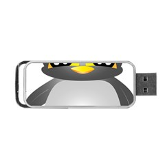 Cute Penguin Animal Portable Usb Flash (two Sides) by Nexatart