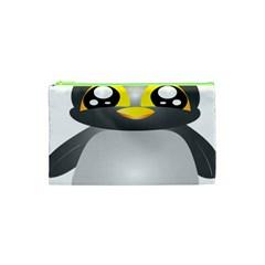 Cute Penguin Animal Cosmetic Bag (xs) by Nexatart