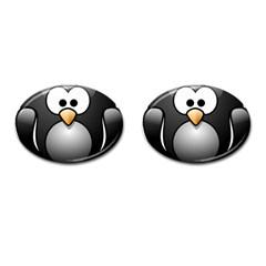 Penguin Birds Aquatic Flightless Cufflinks (oval) by Nexatart