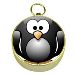 Penguin Birds Aquatic Flightless Gold Compasses by Nexatart