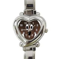 Dog Pup Animal Canine Brown Pet Heart Italian Charm Watch by Nexatart