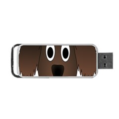 Dog Pup Animal Canine Brown Pet Portable Usb Flash (one Side) by Nexatart