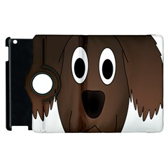 Dog Pup Animal Canine Brown Pet Apple Ipad 2 Flip 360 Case by Nexatart