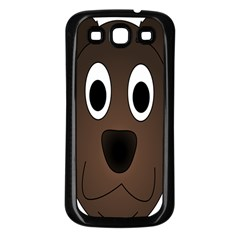 Dog Pup Animal Canine Brown Pet Samsung Galaxy S3 Back Case (black) by Nexatart