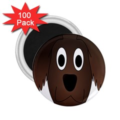 Dog Pup Animal Canine Brown Pet 2 25  Magnets (100 Pack)  by Nexatart