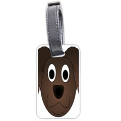 Dog Pup Animal Canine Brown Pet Luggage Tags (one Side)  by Nexatart