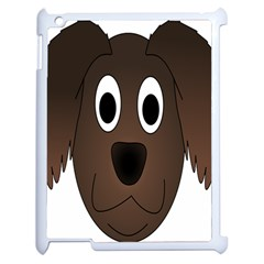 Dog Pup Animal Canine Brown Pet Apple Ipad 2 Case (white) by Nexatart