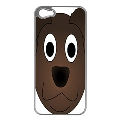 Dog Pup Animal Canine Brown Pet Apple Iphone 5 Case (silver)