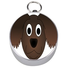 Dog Pup Animal Canine Brown Pet Silver Compasses by Nexatart
