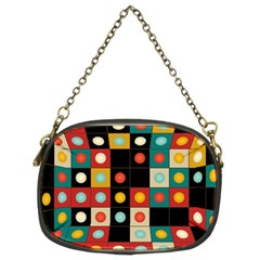 Colors On Black Chain Purses (two Sides)  by linceazul