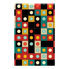 Colors On Black Shower Curtain 48  X 72  (small)  by linceazul