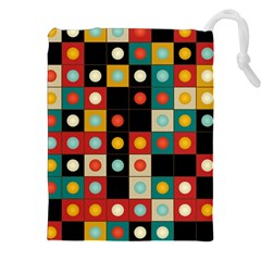 Colors On Black Drawstring Pouches (xxl) by linceazul