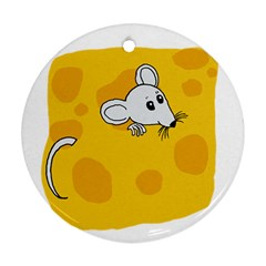 Rat Mouse Cheese Animal Mammal Ornament (round) by Nexatart