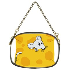 Rat Mouse Cheese Animal Mammal Chain Purses (one Side)  by Nexatart