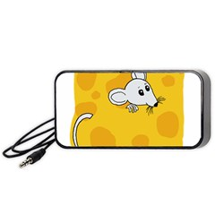 Rat Mouse Cheese Animal Mammal Portable Speaker (black) by Nexatart