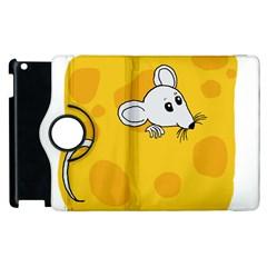 Rat Mouse Cheese Animal Mammal Apple Ipad 3/4 Flip 360 Case by Nexatart