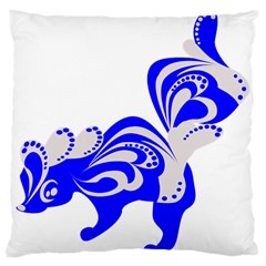 Skunk Animal Still From Large Cushion Case (two Sides) by Nexatart