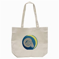 Ram Zodiac Sign Zodiac Moon Star Tote Bag (cream) by Nexatart