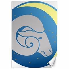 Ram Zodiac Sign Zodiac Moon Star Canvas 20  X 30   by Nexatart
