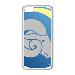 Ram Zodiac Sign Zodiac Moon Star Apple Iphone 5c Seamless Case (white) by Nexatart