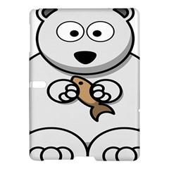 Bear Polar Bear Arctic Fish Mammal Samsung Galaxy Tab S (10 5 ) Hardshell Case  by Nexatart