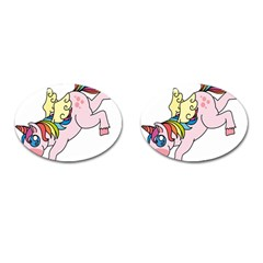 Unicorn Arociris Raimbow Magic Cufflinks (oval) by Nexatart
