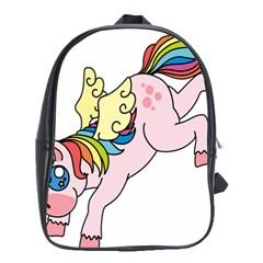 Unicorn Arociris Raimbow Magic School Bag (large) by Nexatart