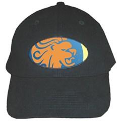 Lion Zodiac Sign Zodiac Moon Star Black Cap by Nexatart
