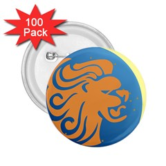 Lion Zodiac Sign Zodiac Moon Star 2 25  Buttons (100 Pack)  by Nexatart
