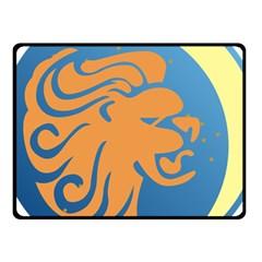 Lion Zodiac Sign Zodiac Moon Star Fleece Blanket (small) by Nexatart